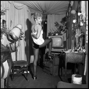 "Line Renaud Backstage of the Famous Concert Hall ""Le Casino De Paris"", January 1962 by Roldes"