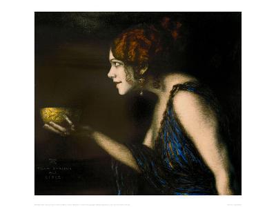 """Role in """"Circe"""" by Pedro Calderon de la Barca, 1912/13-Franz von Stuck-Giclee Print"""