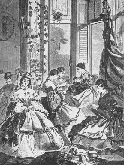 'Role of Women in the War', 1861, (1938)-Unknown-Giclee Print