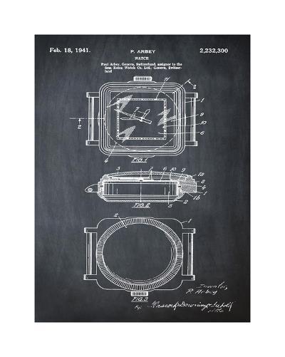 Rolex Watch, 1941-Black-Bill Cannon-Giclee Print