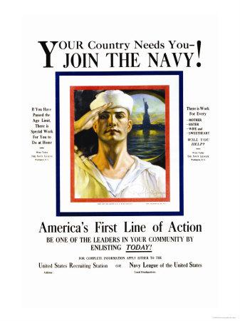 Join the Navy, Your country Needs You, c.1916