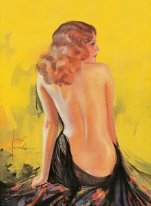 Nude Glamour Art - Front Cover College Humor Magazine May 1932 by Rolf Armstrong