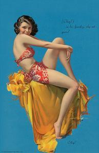 O Kay, Pin Up Girl c.1937 by Rolf Armstrong