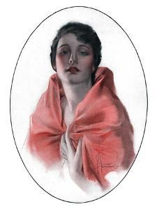 """""""Woman in Shawl,""""June 16, 1923 by Rolf Armstrong"""