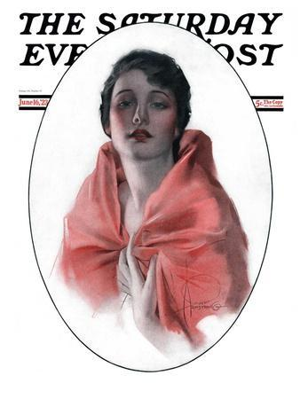 """Woman in Shawl,"" Saturday Evening Post Cover, June 16, 1923"