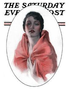 """""""Woman in Shawl,"""" Saturday Evening Post Cover, June 16, 1923 by Rolf Armstrong"""