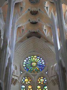 Interior of Sagrada Familia Temple, Barcelona, Catalunya, Spain, Europe by Rolf Richardson