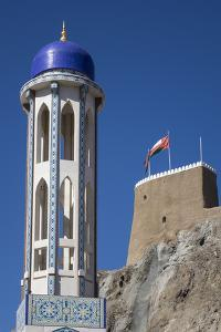 Mosque and Fort, Old Muscat, Oman, Middle East by Rolf Richardson