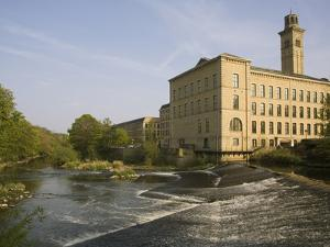 Salts Mill, UNESCO World Heritage Site, Saltaire, Near Bradford, Yorkshire, England, United Kingdom by Rolf Richardson