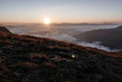 Sunrise Above a Sea of Clouds, Alps, South Tirol