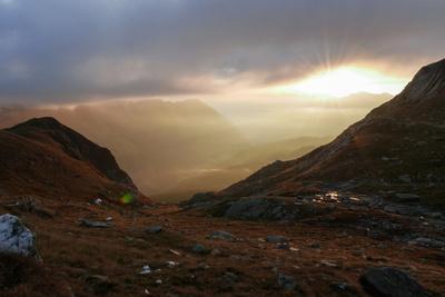 Sunrise in the Fladinger Mountain On the Left, Alps, South Tirol