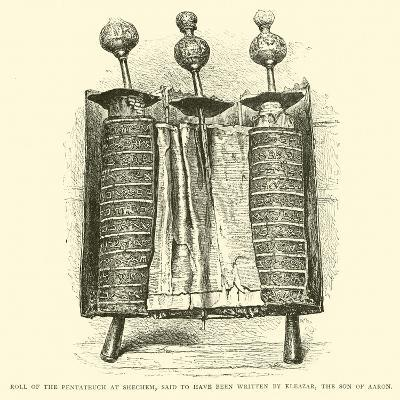 Roll of the Pentateuch at Shechem, Said to Have Been Written by Eleazar, the Son of Aaron--Giclee Print