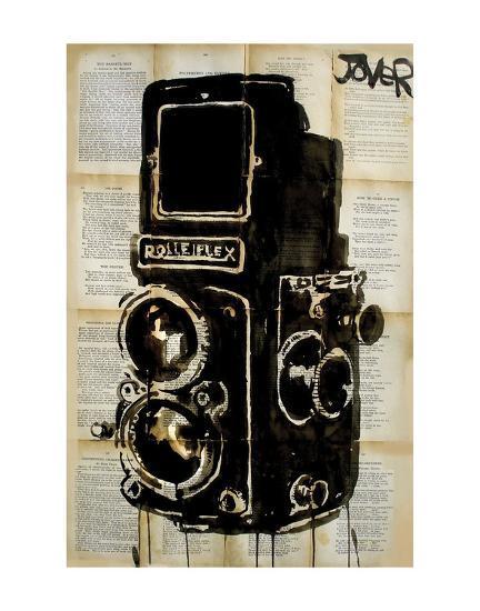 Rolleiplex Camera-Loui Jover-Art Print