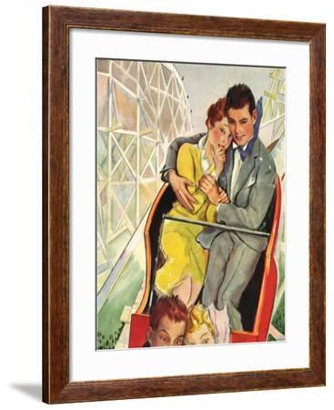 Roller Coaster Couple, 1930--Framed Giclee Print