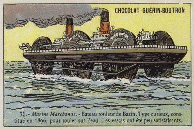 Roller Ship Designed by Ernest Bazin, 1896--Giclee Print