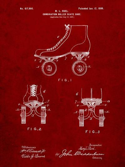 Roller Skate 1899 Patent-Cole Borders-Art Print