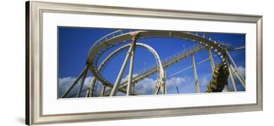 Rollercoaster in an Amusement Park--Framed Photographic Print