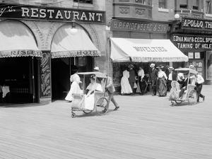 Rolling Chairs on the Boardwalk, Atlantic City, N.J.