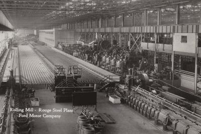 Rolling Mill, Rouge Steel Plant; Ford Motor Company, Dearborn, Michigan--Photographic Print