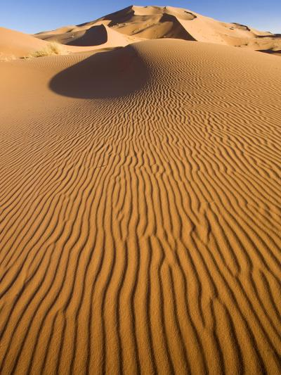 Rolling Orange Sand Dunes and Sand Ripples in the Erg Chebbi Sand Sea Near Merzouga, Morocco-Lee Frost-Photographic Print