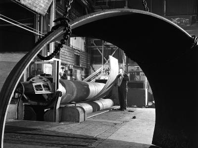 Rolling Plate at Edgar Allens Steel Foundry, Sheffield, South Yorkshire, 1964-Michael Walters-Photographic Print