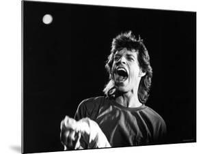 Rolling Stones Lead Singer Mick Jagger Performing at Live Aid