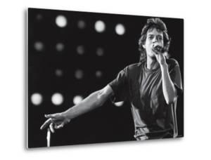 Rolling Stones Lead Singer Mick Jagger Performing at the Live Aid Concert