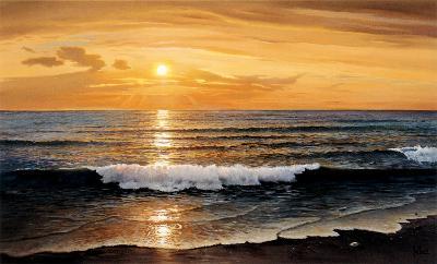 Rolling Surf-W^ Galland-Art Print
