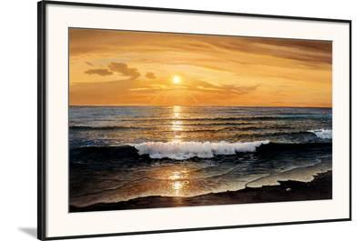 Rolling Surf-W^ Galland-Framed Art Print