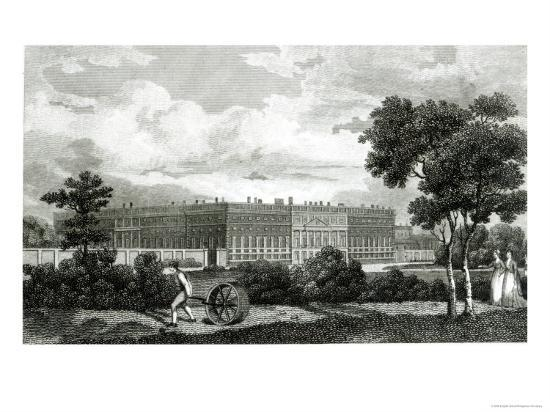 Rolling the Lawns at Hampton Court Palace, 7th March 1807--Giclee Print
