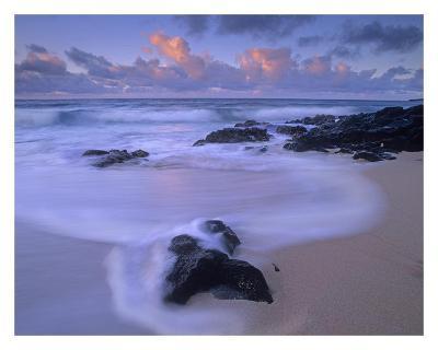 Rolling waves at dusk at Sandy Beach, Oahu, Hawaii-Tim Fitzharris-Art Print