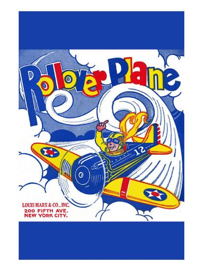 Rollover Plane--Art Print
