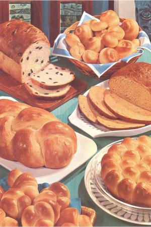 Rolls and Breads-Found Image Press-Photographic Print