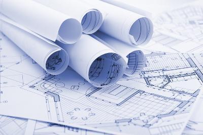 Rolls of Architecture Blueprints--Vladimir--Photographic Print
