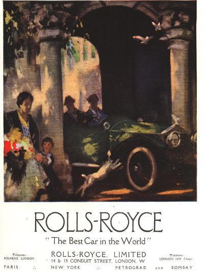 Rolls-Royce, Cars, UK, 1917--Giclee Print