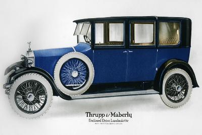 Rolls-Royce Enclosed Drive Landaulette with Partition Behind the Driver, C1910-1929--Giclee Print