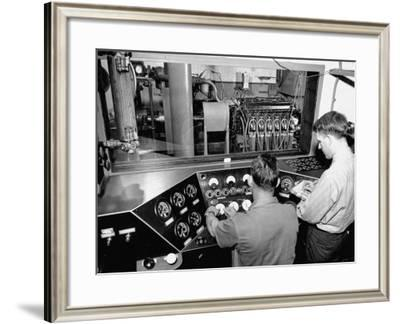 Rolls-Royce Engines Being Produced at Packard Motor Co. Plant--Framed Photographic Print