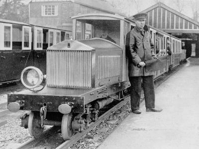Rolls-Royce Silver Ghost Locomotive on the Romney, Hythe and Dymchurch Railway, 1933--Photographic Print