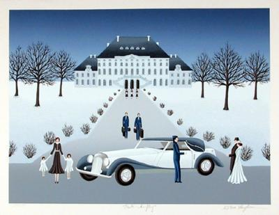 Rolls Royce Wedding-Wilma Longhammer-Collectable Print