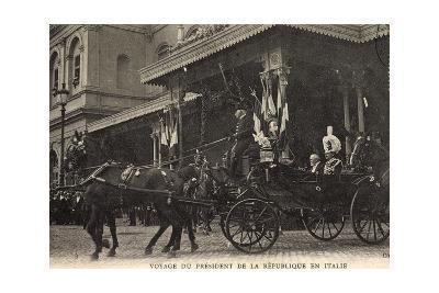 Rom, Voyage Du Président, Roi D'Italie, Quittent Gare--Giclee Print