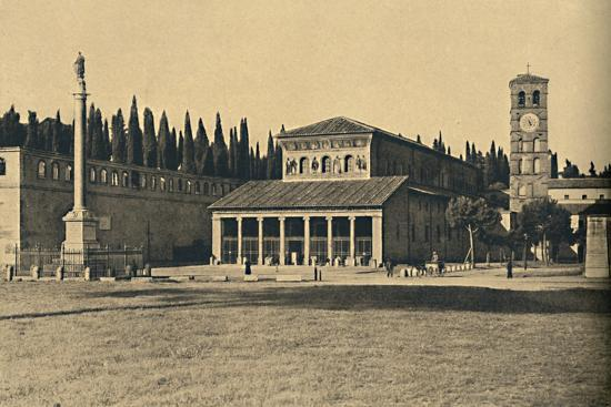 ''Roma - Basilica di S. Lorenzo fuori le Mura', 1910-Unknown-Photographic Print