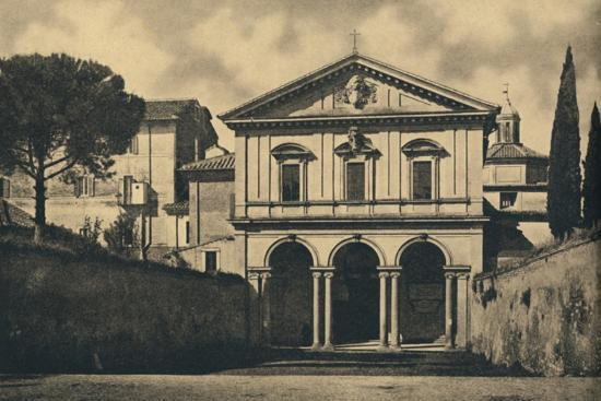 'Roma - Basilica of S. Sebastian on the Appian Way', 1910-Unknown-Photographic Print