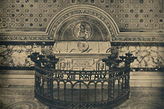 'Roma - Basilica of St Lawrence. - Tomb of Pius IX', 1910-Unknown-Photographic Print