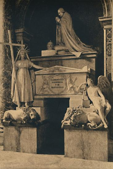 'Roma - Basilica of St. Peter - Tomb of Clement XIII, by Canova', 1910-Unknown-Photographic Print