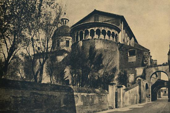 'Roma - Clivus Scauri and Apse of the Church of SS. Giovanni and Paolo on the Caelian Hill', 1910-Unknown-Giclee Print