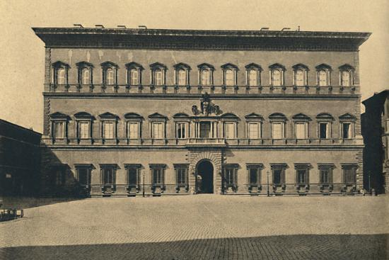 'Roma - Farnese Palace', 1910-Unknown-Photographic Print