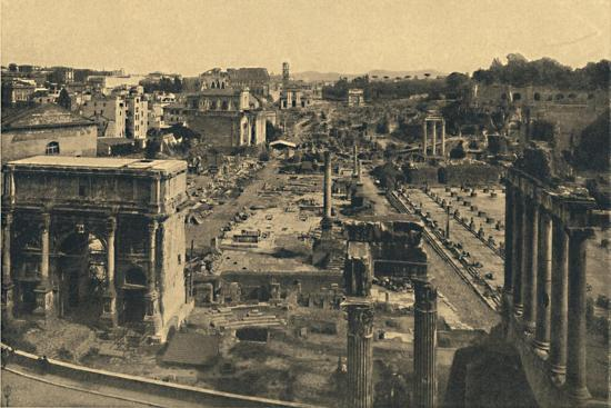 'Roma - General View of the Roman Forum', 1910-Unknown-Giclee Print