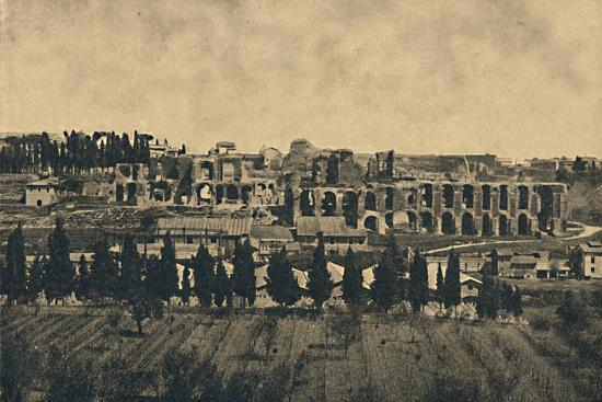 'Roma - Grand remains of the substructures of the palace of Septimius Severus', 1910-Unknown-Photographic Print