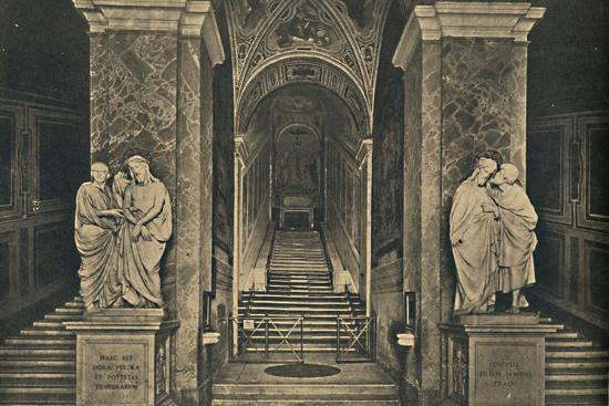 'Roma - Holy steps with the 28 marble Steps from the House of Pilate, brought to Rome by St. Helena-Unknown-Photographic Print