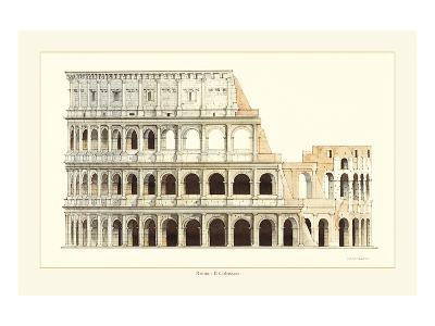 Roma, Il Colosseo-Libero Patrignani-Art Print